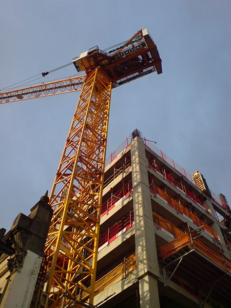File:Construction Crane Residential Building I.jpg