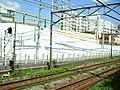 Construction of Chūō Shinkansen Higashi-Yukigaya exit (temporary fence).jpg