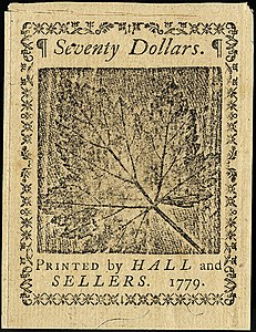 Continental Currency $70 banknote reverse (January 14, 1779).jpg