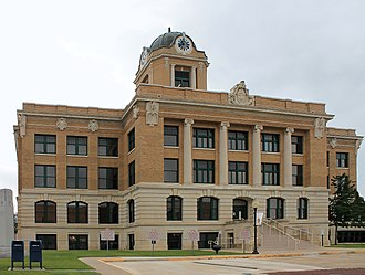 National Register of Historic Places listings in Cooke County, Texas - Image: Cookcountycourthouse 1