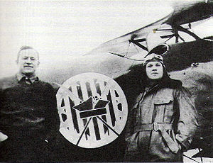 "Polish Air Force - American volunteers, Merian C. Cooper and Cedric Fauntleroy, fighting in the Polish Air Force as part of the Polish 7th Air Escadrille, known as the ""Kościuszko Squadron"""