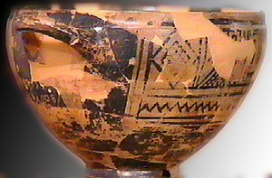 Nestor's Cup - The so-called Nestor's cup from Pithekoussai, Ischia