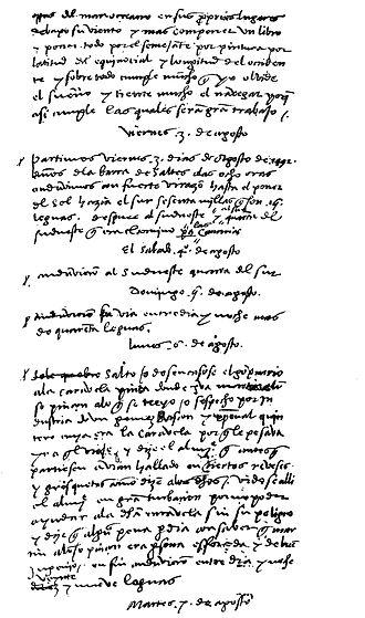 Christopher Columbus's journal - Copy by Bartolomé de las Casas
