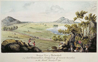 Third Anglo-Mysore War - Cornwallis's army marching towards Malwakul