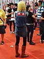 Cosplayer of Android 18, Dragon Ball Z at Comic Exhibition 20170813b.jpg