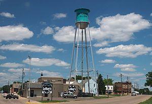 Cottonwood, Minnesota - Cottonwood, Minnesota from County Highway 9