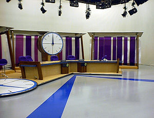 Countdown (game show) - The former studio before the start of the game