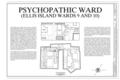 Cover Sheet - Ellis Island, Psychopathic Ward, New York Harbor, New York, New York County, NY HABS NY-6086-U (sheet 1 of 6).png