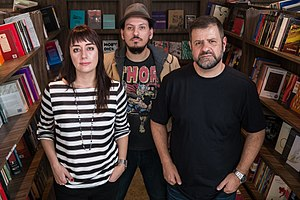 Maura Martins, Alejandro Mercado e Paulo Camargo: editores de A Escotilha