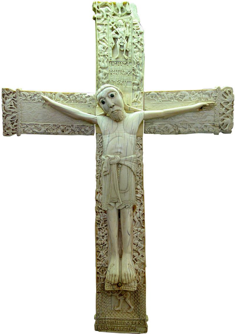 El Jesús real y el Jesús ficticio: su fisonomía - Página 4 800px-Cristo_de_don_Fernando_y_do%C3%B1a_Sancha_%28anverso%29