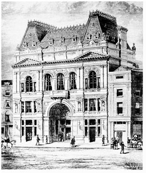 Criterion Restaurant - Criterion building with restaurant and theatre in 1873