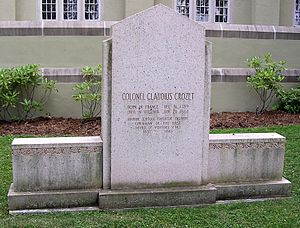 Claudius Crozet - Crozet's grave on the campus of the Virginia Military Institute, in Lexington, Virginia