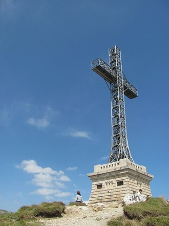 Heroes' Cross on Caraiman Peak - Image: Crucea Caraiman vedere laterala