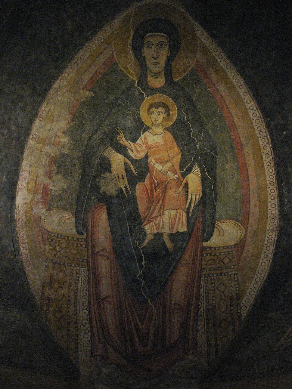 Crucifix, Spain, ca. 1150-1200; Virgin and Child in Majesty, Master of Pedret Catalunya, ca. 1100 (5459694198)