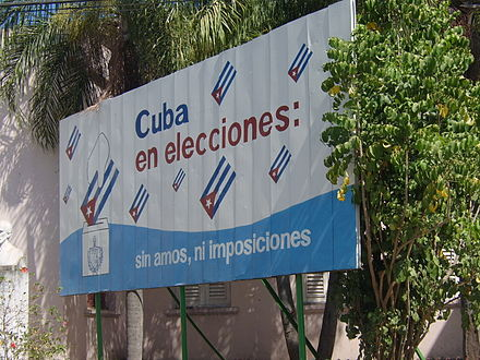 Sign promoting the 2008 parliamentary election CubaElectio.JPG