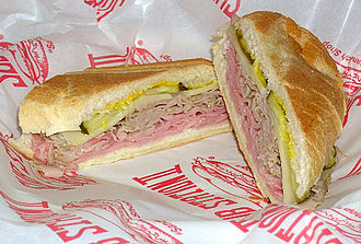 Cuban cuisine - A typical Cuban sandwich (picture from South Florida)