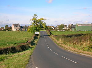Cunninghamhead - Cunninghamhead and the crossroads from the old smithy on the Kilmaurs road. 2007.