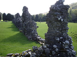 Cwmhir Abbey Grade II* listed building in Abbeycwmhir. Abbey