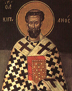 Cyprian Bishop of Carthage and Christian writer