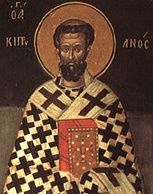 Cyprian - Icon of Saint Cyprian from a German Orthodox church.