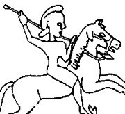 Cyrus I on horseback, seal.png