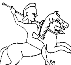 Cyrus I - Cyrus I on horseback from a seal