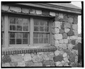 DETAIL VIEW OF STONEWORK ON BARN - Samuel B. Messerschmidt Farmstead, Barn, 5723 U.S. Highway 51, Burke, Dane County, WI HABS WIS,13-BUR,1B-3.tif