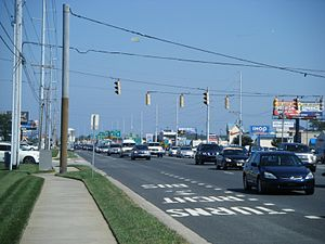 Delaware Route 1 - DE 1 in Rehoboth Beach, looking south