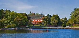 Villa Pauli, Djursholm - Villa Pauli seen from the Stora Värtan