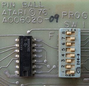 DIP switch - An early DIP switch (1976)