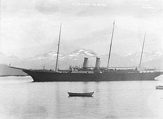 HMY Alexandra - Prins Olav in the Norwegian port of Molde in 1925
