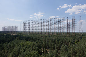 Duga radar - The array at Chernobyl, viewed from a distance