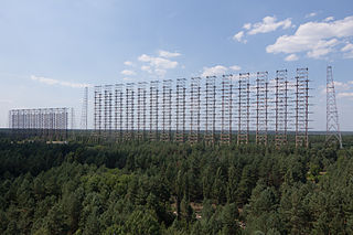 Duga radar Soviet over the horizon early warning radar