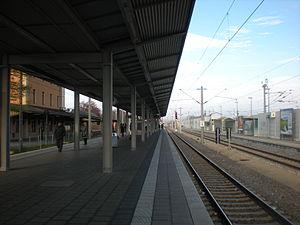 Dachau station - S-Bahn platforms