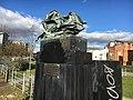 Daimler heritage marker Coventry Canal.jpg