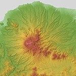 Daisen Volcano & Hiruzen Volcano Group Relief Map, SRTM-1.jpg