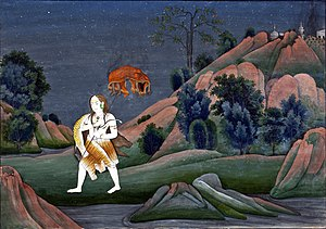 Manikarnika Ghat - Shiva carrying the corpse of Sati Devi