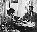 Dalip Singh Saund with Rani Sekhon of VOA India, Aneka Amerika 102 (1957), p15.jpg