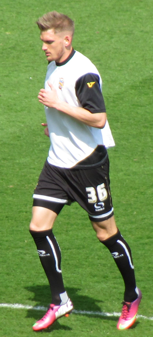 Daniel Jones (footballer) - Jones warming up for Port Vale before the match against Northampton Town on 20 April 2013.