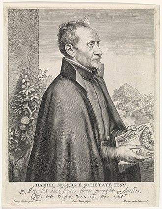 Daniel Seghers - Portrait engraving by Paulus Pontius