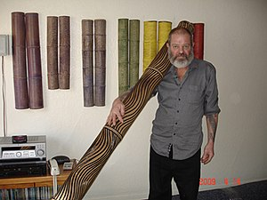Chillum (pipe) - Image: Darrel Mortimer and his Biggest Tattooed Chillum, San Francisco 2009