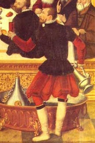 Hose (clothing) - Image: Das Abendmahl 1565 pluderhosen