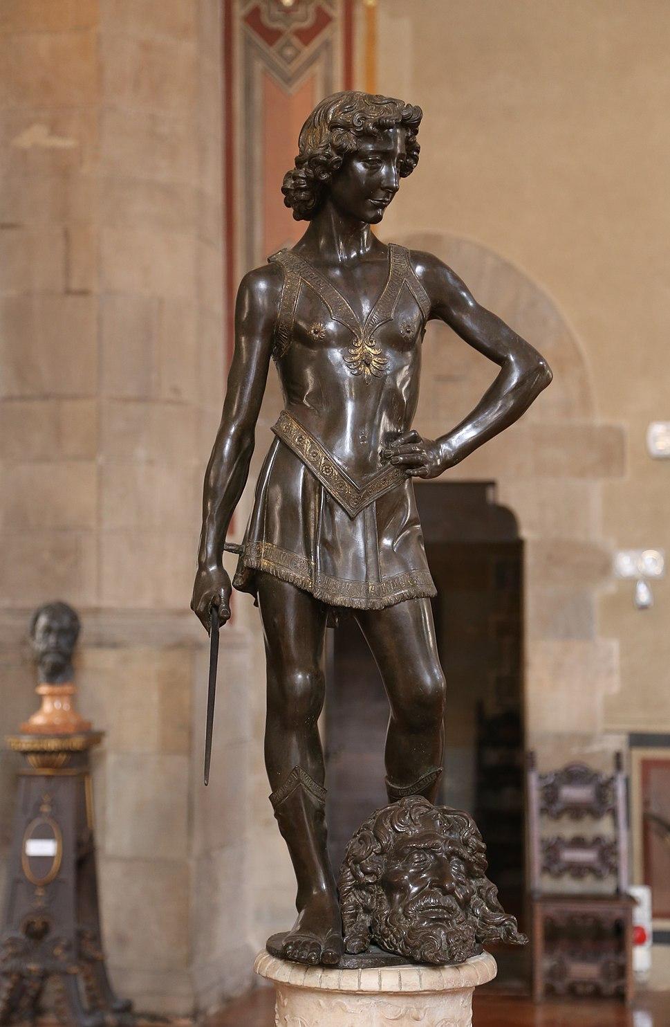 David, Andrea del Verrocchio, ca. 1466-69, Bargello Florenz-01
