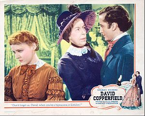 Edna May Oliver - Edna May Oliver (center) in lobby card for David Copperfield (1935)