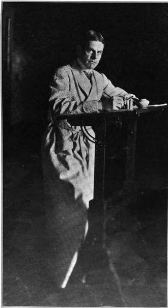 """David Graham Phillips - Photograph of """"David Graham Phillips at work"""" in the March 1911 issue of The Bookman"""