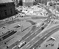 Deák Ferenc tér a Király (Majakovszkij) utca felől az Erzsébet (Engels) tér felé nézve az aluljáró építése idején. Fortepan 98911.jpg