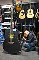 De Rosa Guitars, GA180-BK huge size guitar, Bridgecraft keyboards, 2010 Summer NAMM.jpg