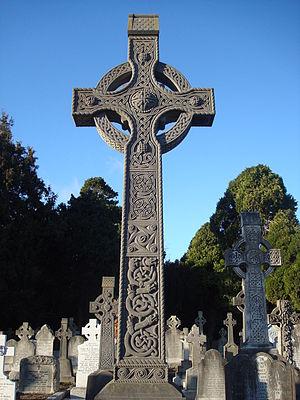 Deans Grange Cemetery - Celtic cross in Deans Grange Cemetery