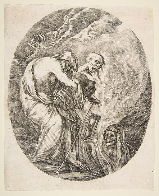 Death Dragging an Old Man to His Tomb MET DP817552