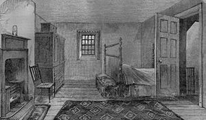 1796 in poetry - The death room of Robert Burns